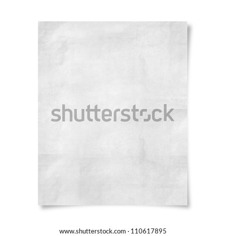 blank paper isolate on white background - stock photo