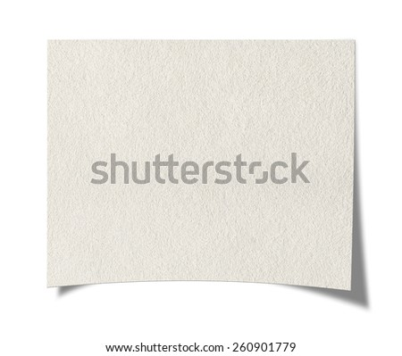 Blank paper. Isolated on white background. - stock photo