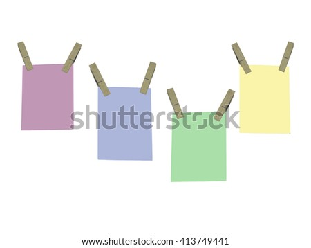 blank paper note on white background - stock photo