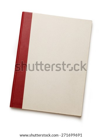 Blank paper notebook on the white background - stock photo