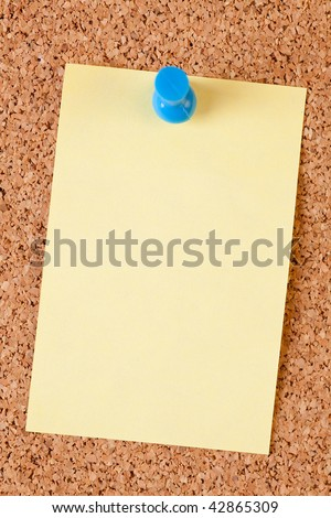 blank paper notes on cork board - stock photo