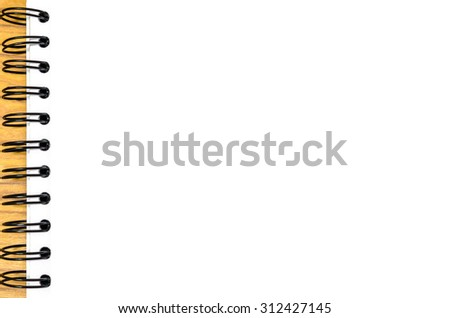 Blank paper on the wooden table , for background - stock photo