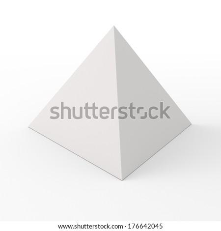Blank paper pyramid for customizing - stock photo