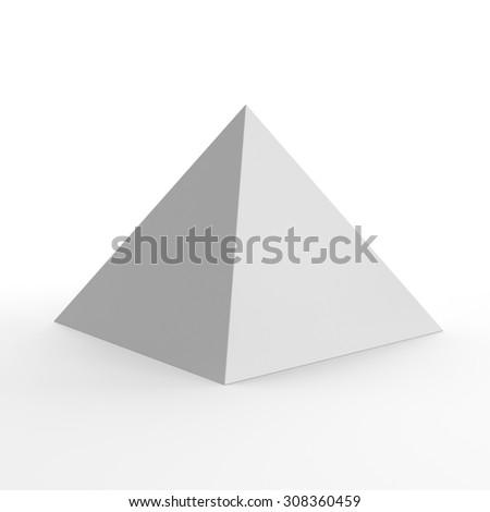Blank paper pyramid for customizing