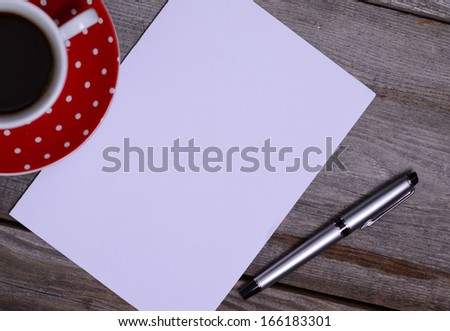 Blank Paper ready for your own text - stock photo