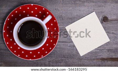 Blank Paper ready for your own text on wooden - stock photo