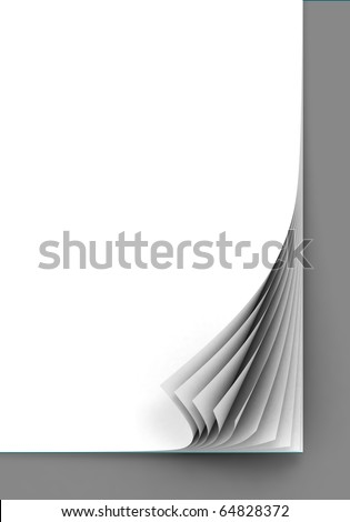 blank paper sheets - stock photo