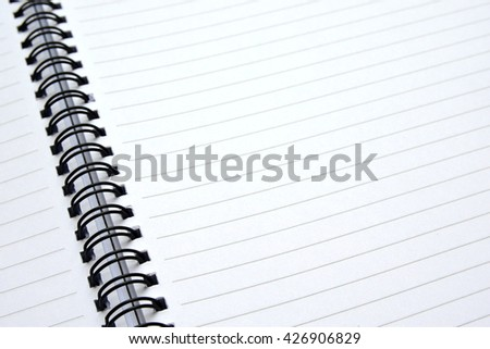 Blank paper spiral book - stock photo