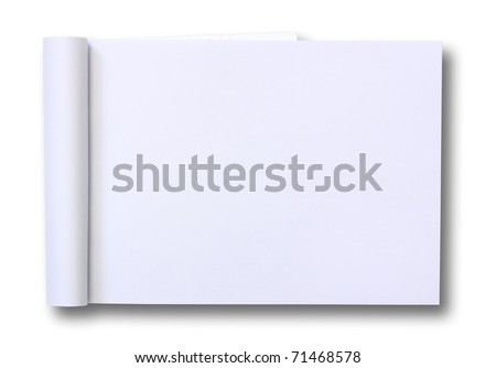 blank Paper tablet - stock photo