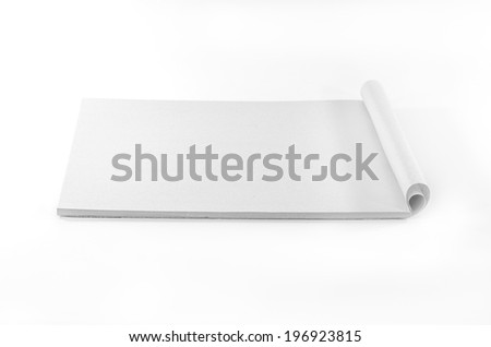 blank Paper tablet on white background, blank Paper tablet - stock photo