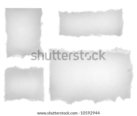Blank Paper Tears. Ready for your message. XXL Size. - stock photo