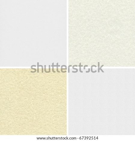 Blank paper textures for design - stock photo