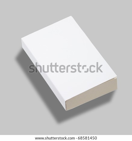 Blank paperback book white cover w clipping path
