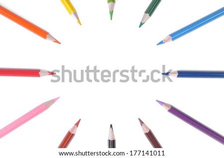blank pencil clock - stock photo