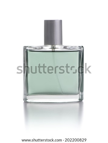 Blank Perfume Bottle Isolated on White Background - stock photo