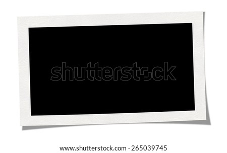Blank Photo Border. Isolated on white background with clipping path. - stock photo