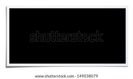 Blank Photo.Clipping path included. Wide version. - stock photo