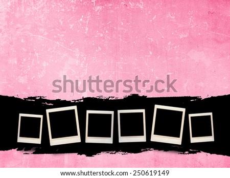 Blank photo frame  - stock photo