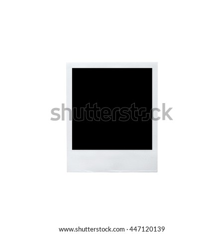 Blank photo frame isolated on white background. - stock photo