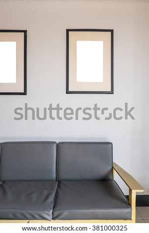 blank photo frame on wall