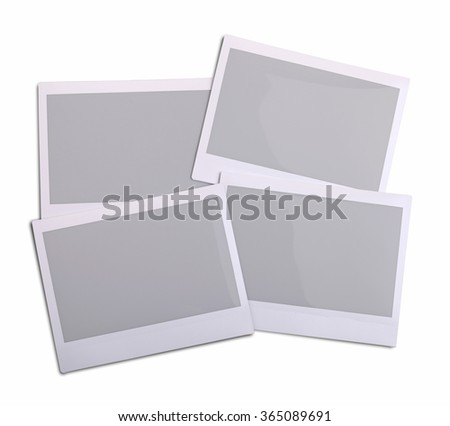 Blank Photo Frame over white Background With Clipping Path - stock photo
