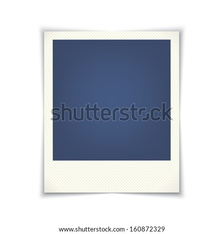 blank photo frame.  template for design.(rasterized version) - stock photo