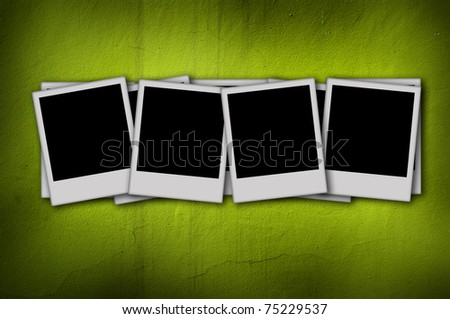 blank photo on green background - stock photo
