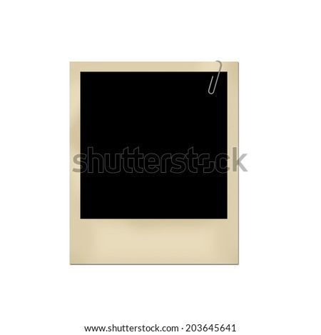 Blank photography isolated on white.