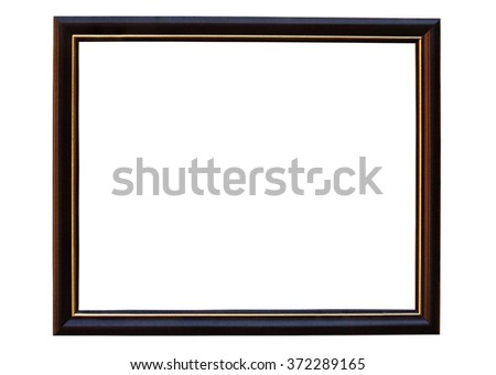 Blank picture frame made with Teak isolated with clipping path.