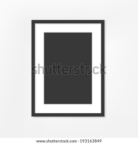 blank picture frame on white background