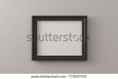 Blank Picture Frame Templates Set On Stock Photo (Royalty Free ...