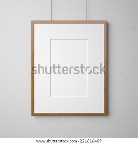 Blank picture on the wall - stock photo