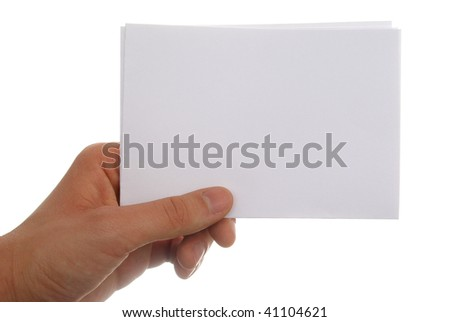 blank piece of paper - stock photo
