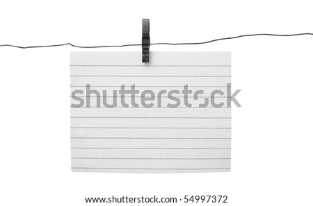blank piece paper hang on clothesline stock photo royalty free