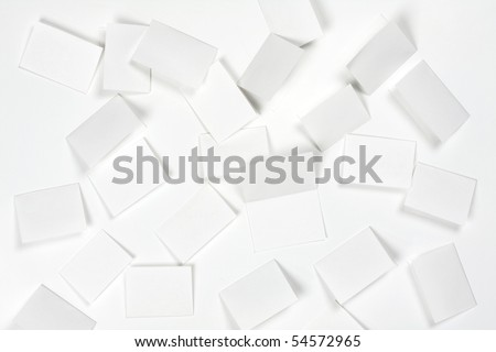 Blank pieces of paper for lottery. center piece open and facing up. - stock photo