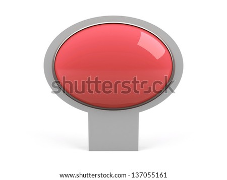 Blank pink isolated on white - stock photo