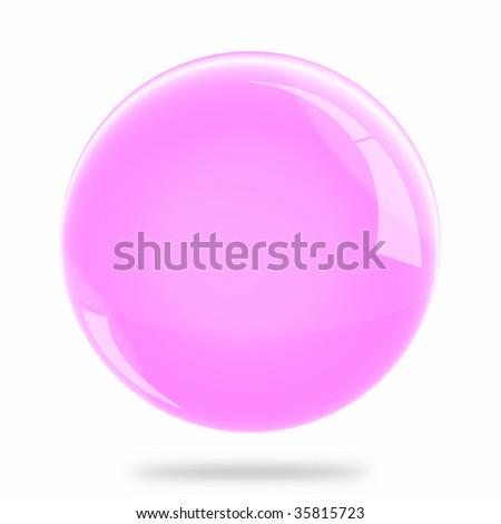 Blank Pink Sphere Float - stock photo