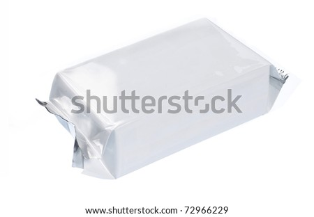 blank plastic pack suitable for your design - stock photo