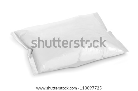 blank plastic package on white background
