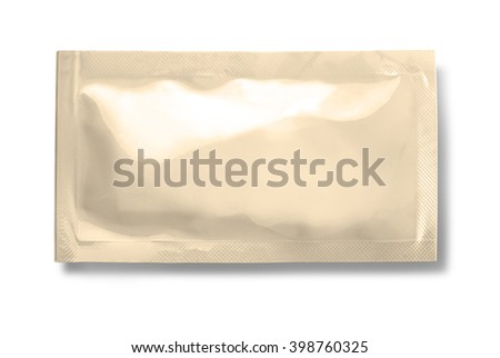 Blank plastic stick packaging isolated on white, with clipping path - stock photo