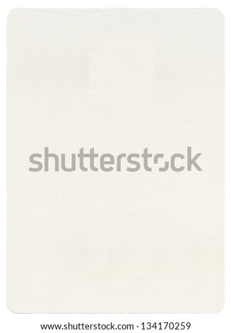 Blank playing card, isolated on white background. - stock photo