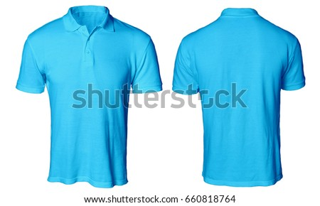 Blank Polo Shirt Mock Template Front Stock Photo (Royalty Free ...