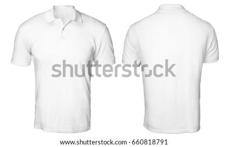 blank polo shirt mock template frontの写真素材 ロイヤリティフリー