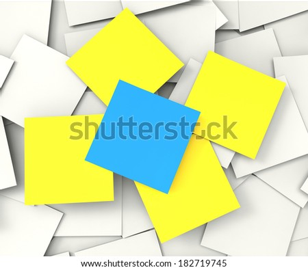 Blank Post it Messages Showing Copyspace To Do And Note