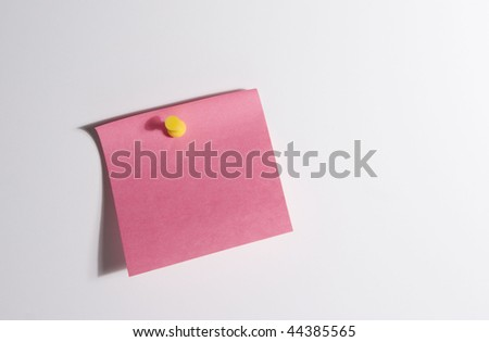 Blank Post-it Note - stock photo
