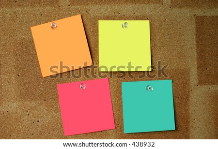 blank post-its #3, paper sheets are perfectly clean