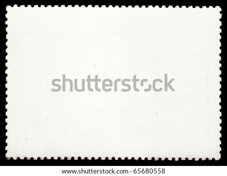 Blank post stamp - stock photo