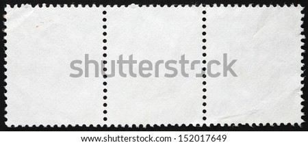 Blank Postage Stamp Framed by Black Border - stock photo