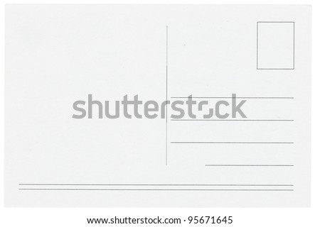 Blank postcards isolated in high resolution - stock photo