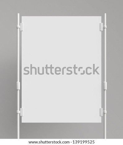 blank poster sandwiched metal clasps - stock photo